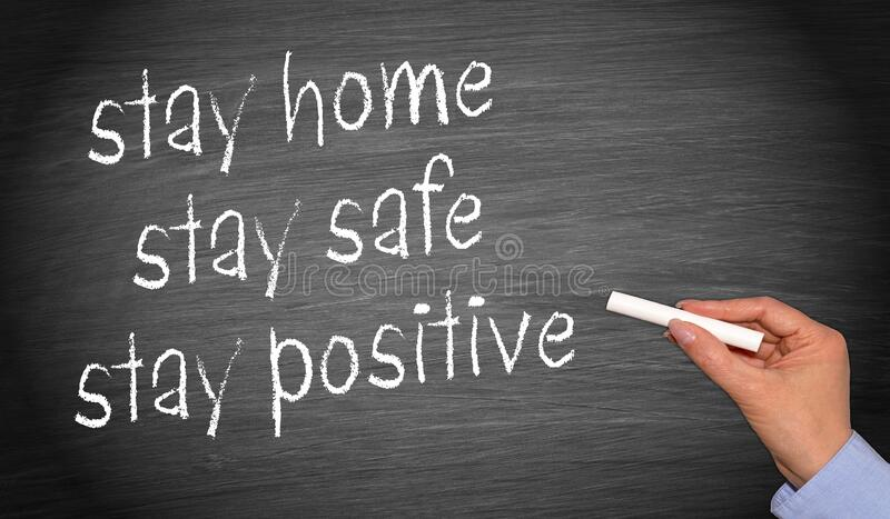Corona covid-19, stay home, stay safe, stay positive stock images
