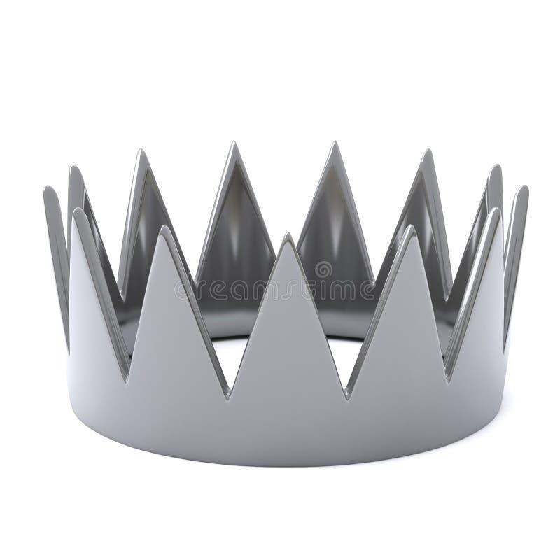 Corona d'argento, 3d royalty illustrazione gratis