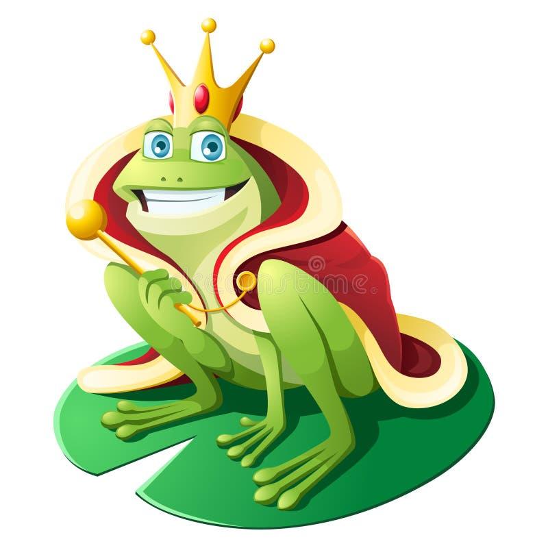 Corona d'uso della rana illustrazione di stock