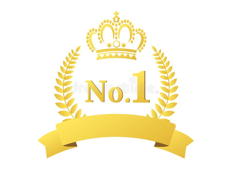 Corona de clasificación1 stock de ilustración