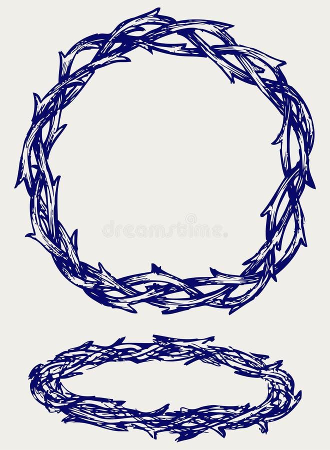Corona de espinas ilustración del vector