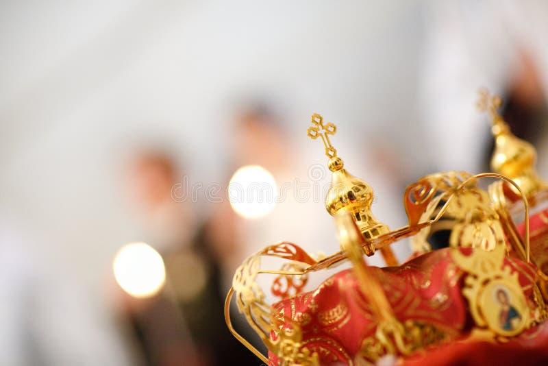 Corona de la boda imágenes de archivo libres de regalías