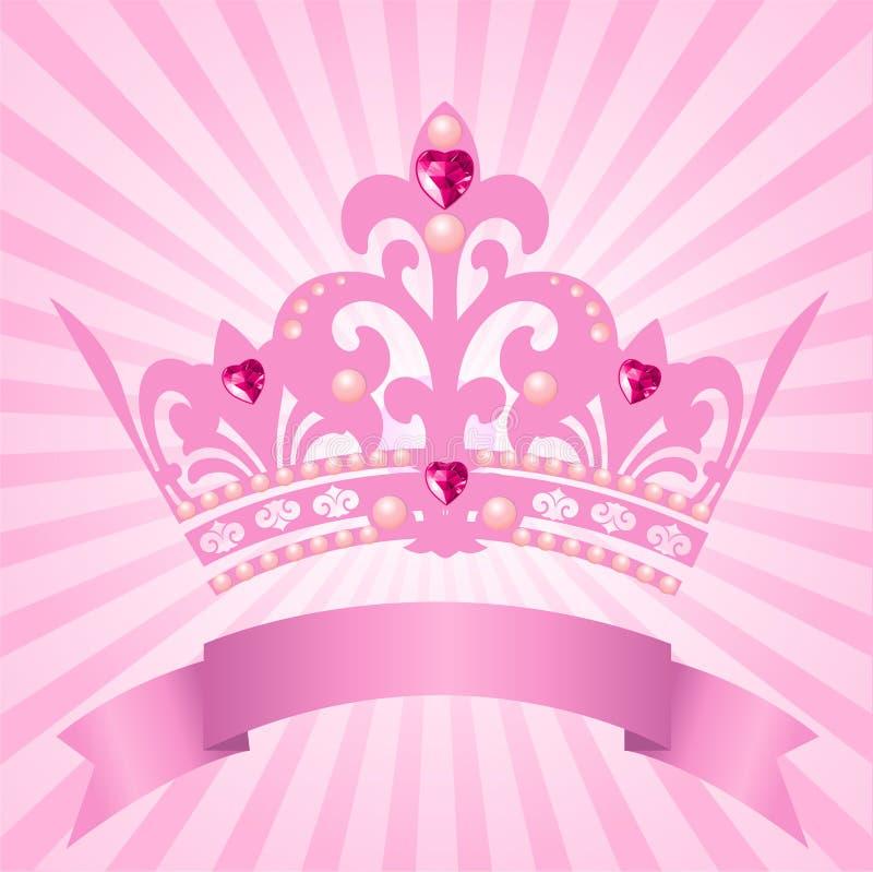 Corona de la princesa stock de ilustración