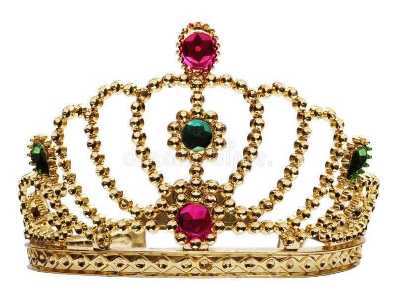 Corona de la princesa aislada en blanco fotografía de archivo libre de regalías