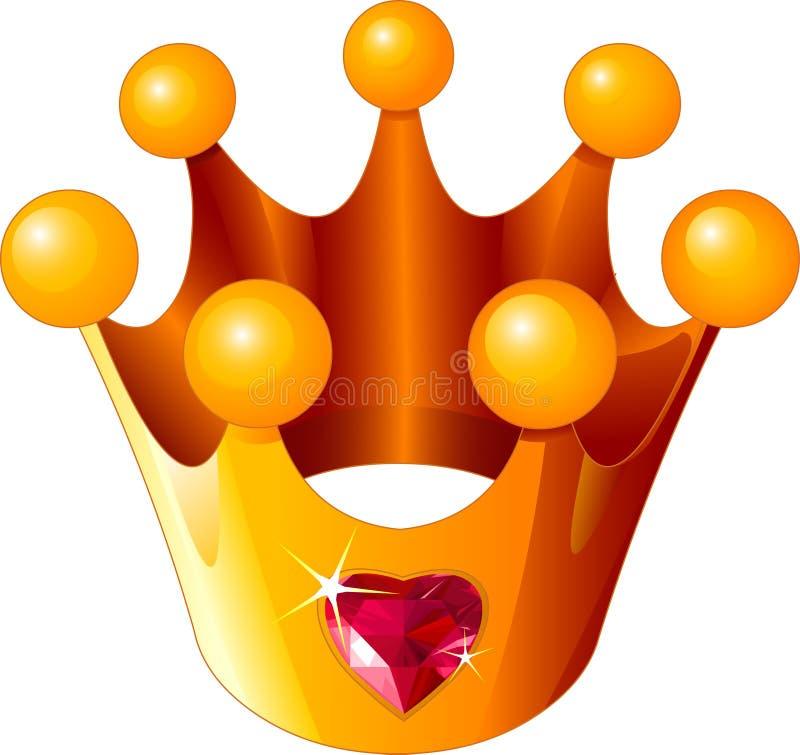 Corona de la princesa del amor libre illustration