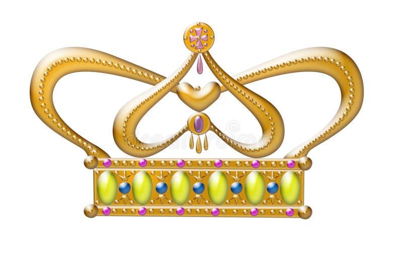 Corona de la princesa del oro ilustración del vector