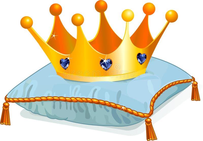 Corona de la reina en la almohadilla ilustración del vector