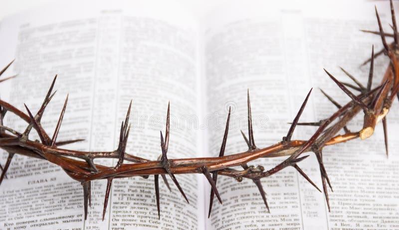 Corona de las espinas Jesus Christ Bible fotos de archivo