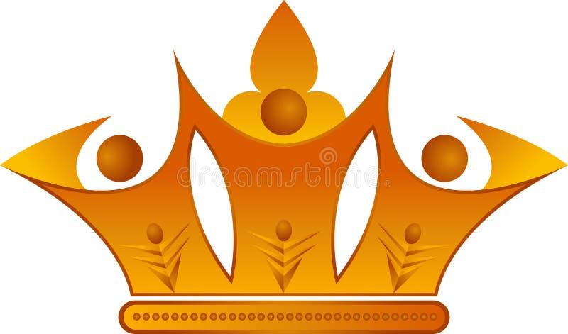 Corona de los pares ilustración del vector