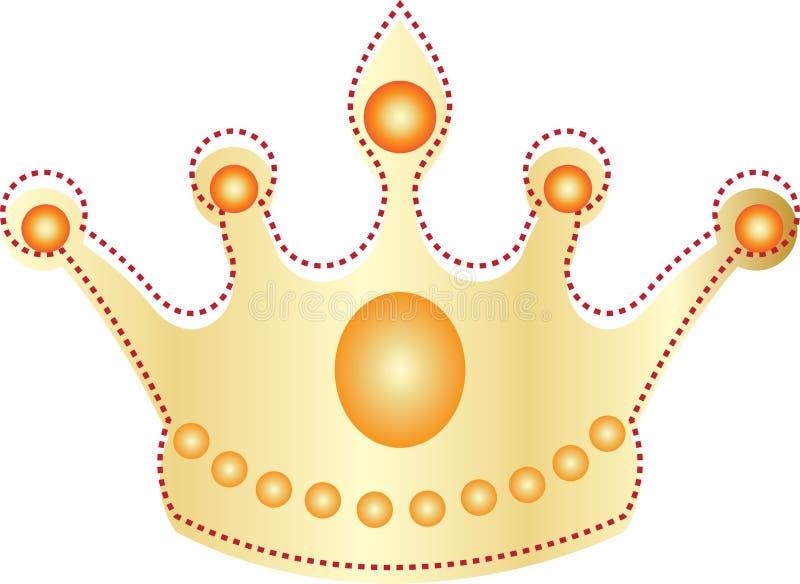 Corona de oro stock de ilustración
