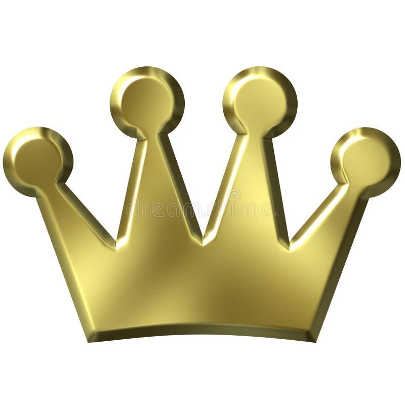 corona de oro 3D stock de ilustración