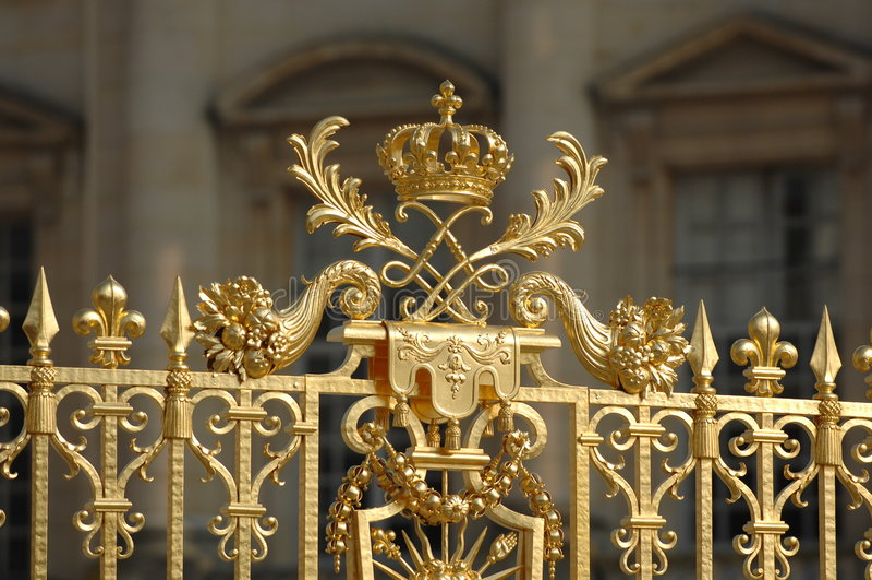 Corona de oro adornada de Versalles imágenes de archivo libres de regalías