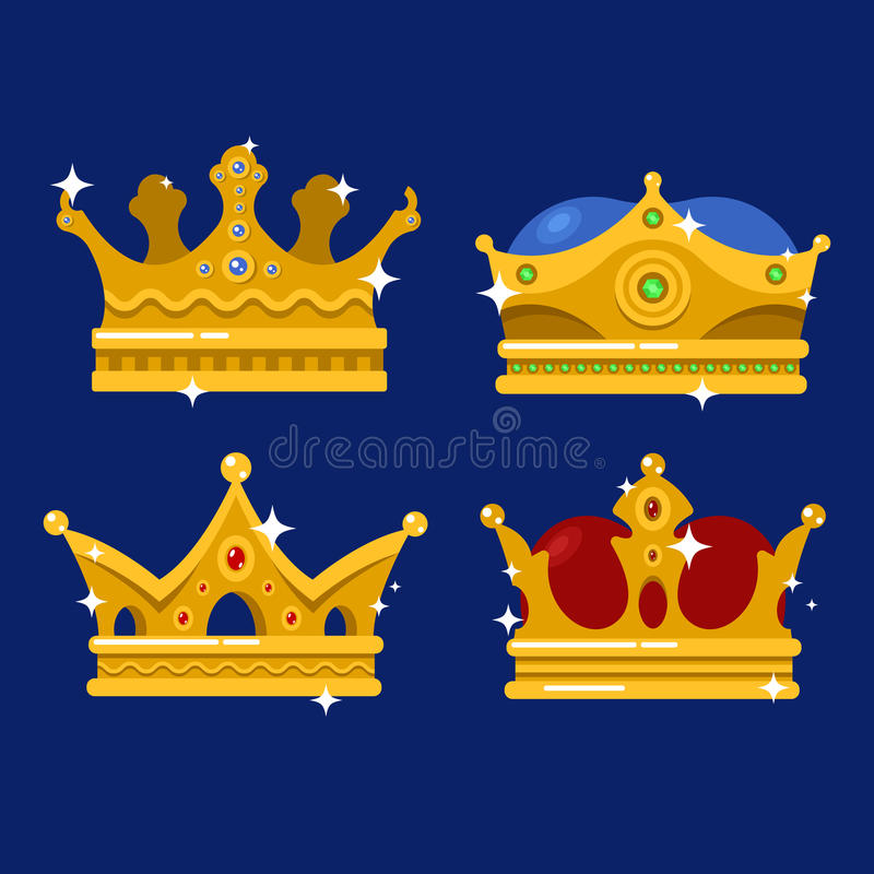Corona de oro del icono del emperador o de la tiara del monarca libre illustration