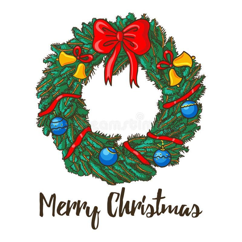 Corona decorata Natale immagine stock libera da diritti