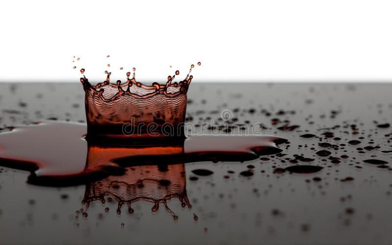 Corona del agua roja fotos de archivo