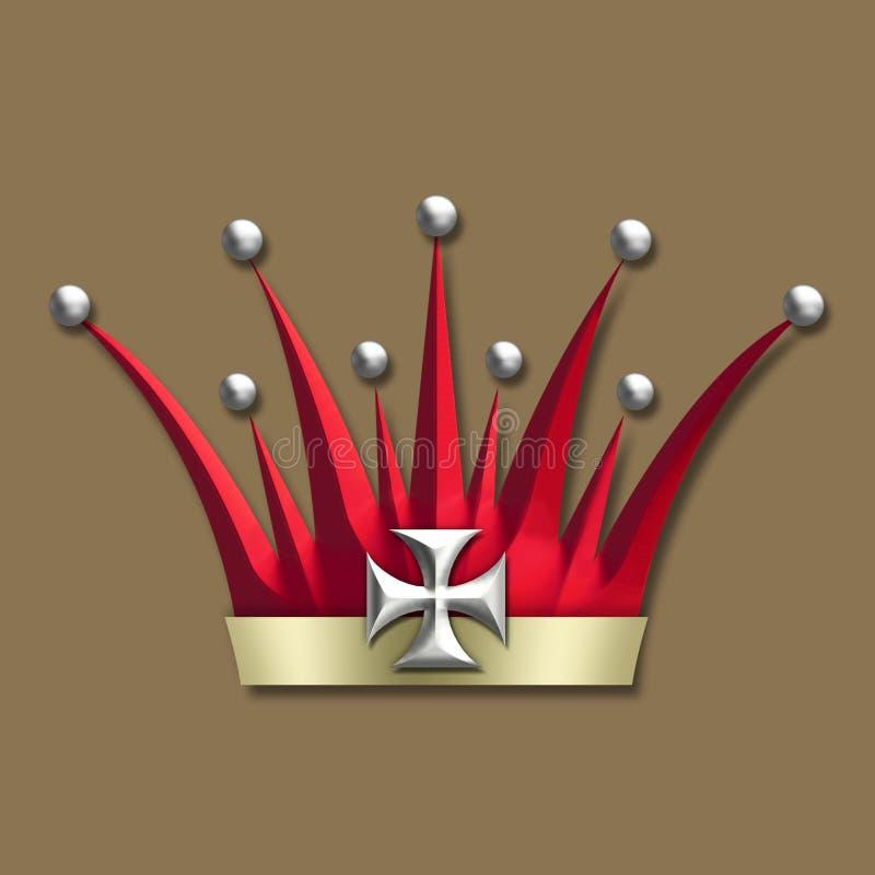 Corona del art déco de la vendimia ilustración del vector