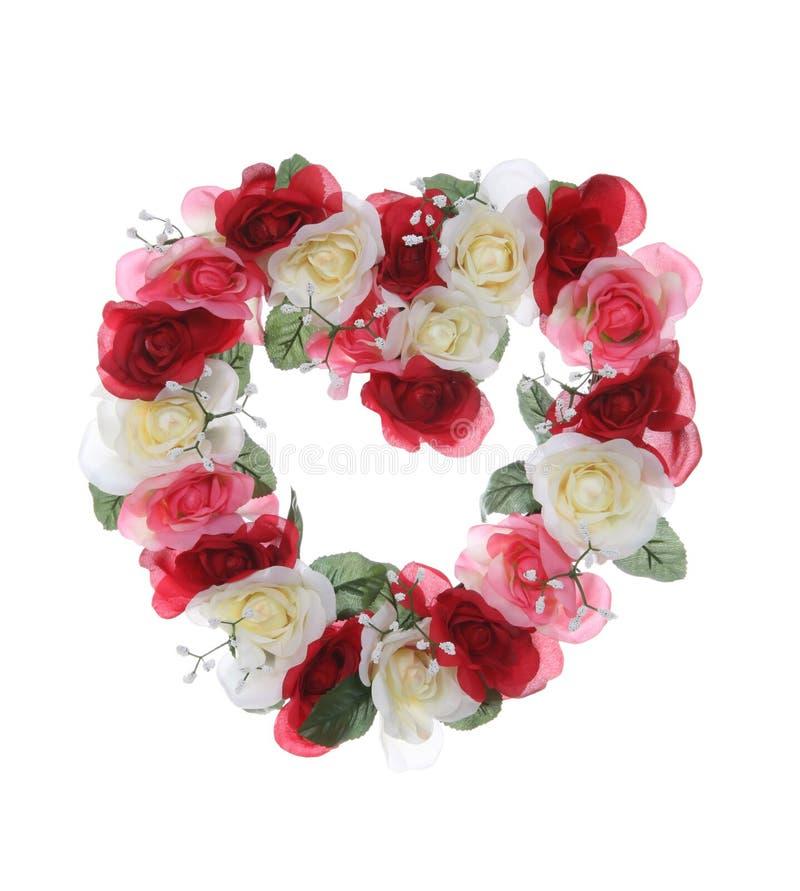 Corona del cuore dei biglietti di S. Valentino fotografia stock