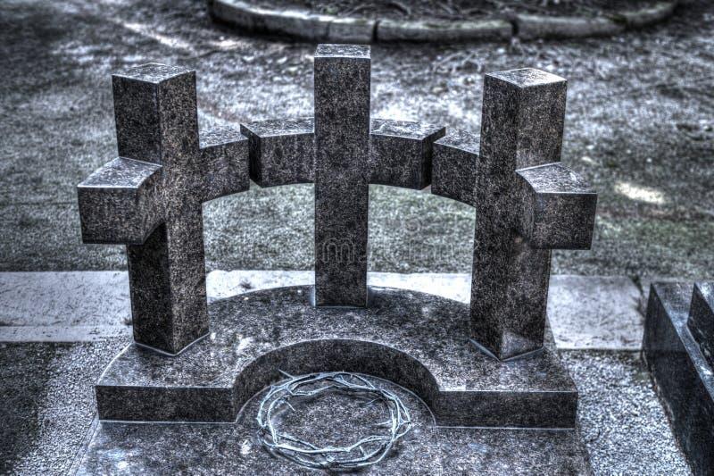 Corona del dipsoste di tre incroci delle spine semicircolare di Gesù fotografia stock