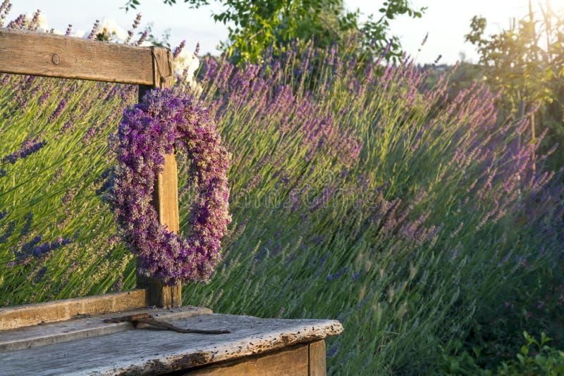 Corona del fiore della lavanda immagini stock libere da diritti