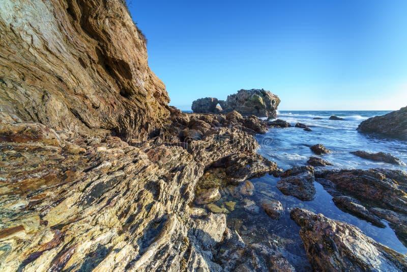 Corona Del Mar Jump Rock, California fotografía de archivo libre de regalías