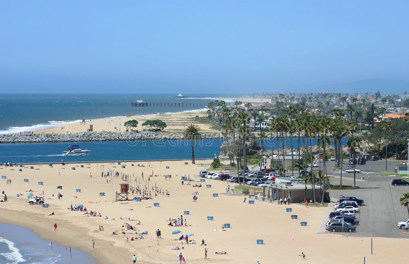 Corona Del Mar looking North. To the Wedge royalty free stock photography