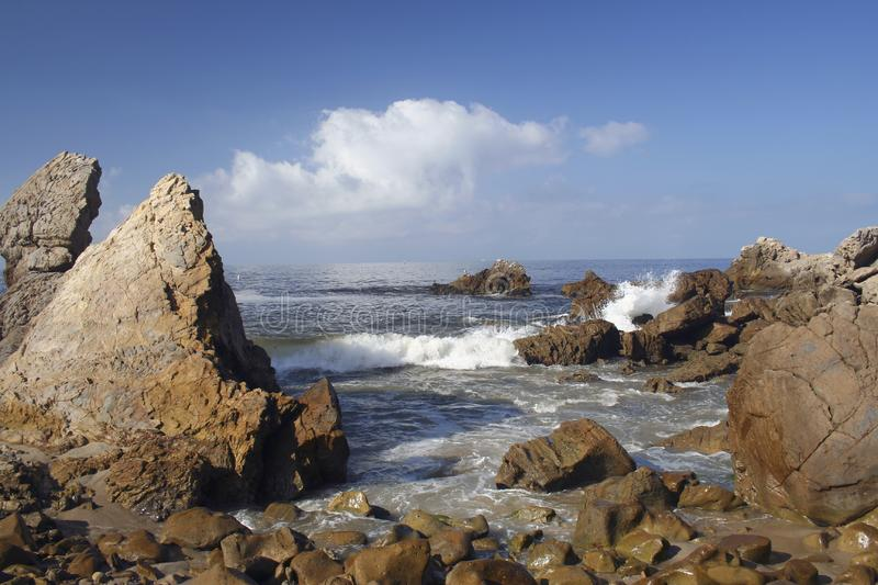Corona Del Mar Rocks Free Stock Photography