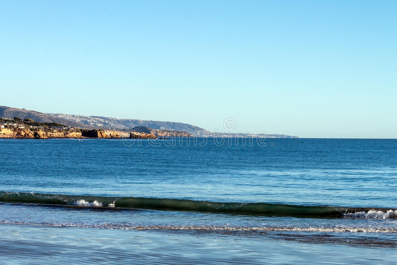 Corona Del Mar strand, Newport strand Kalifornien arkivfoto