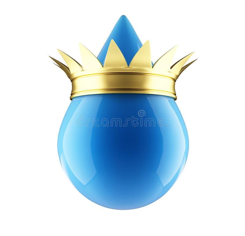 Corona del oro de la gota del agua ilustración del vector