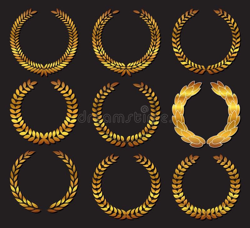 Corona dell'alloro illustrazione vettoriale