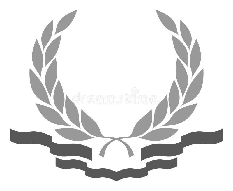 Corona Dell'alloro Con Fasce Illustrazione Vettoriale