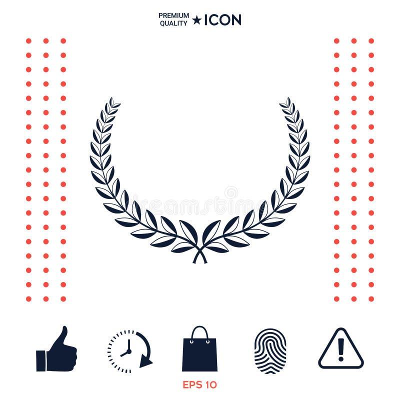 Download Corona Dell'alloro Elemento Per Progettazione Di Yor Illustrazione Vettoriale - Illustrazione di foglio, concorrenza: 117975793