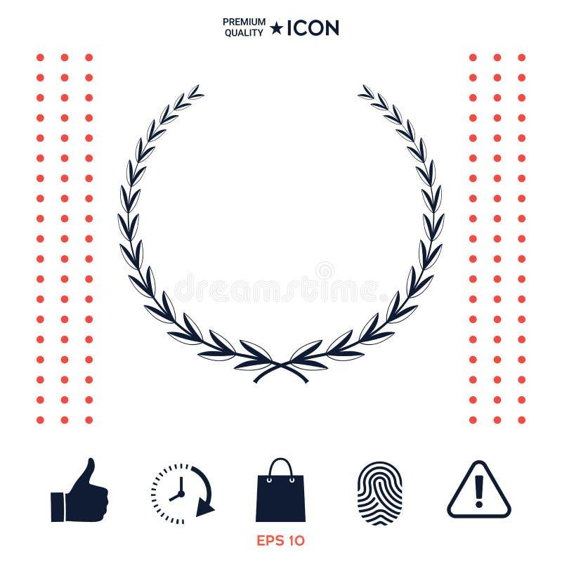 Download Corona Dell'alloro - Simbolo Illustrazione Vettoriale - Illustrazione di sport, bordo: 117975750