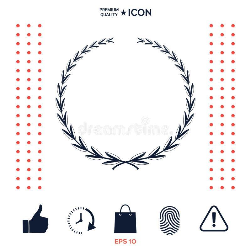 Download Corona Dell'alloro, Simbolo Illustrazione Vettoriale - Illustrazione di filiale, ornate: 117975794