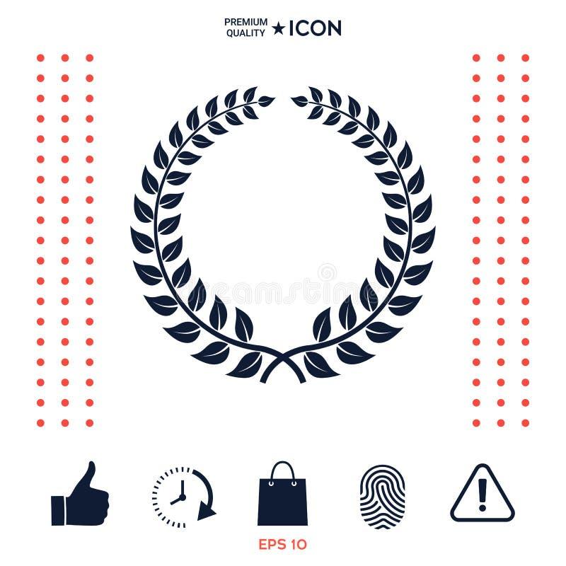 Download Corona Dell'alloro - Simbolo Di Progettazione Illustrazione Vettoriale - Illustrazione di cappotto, capo: 117975758