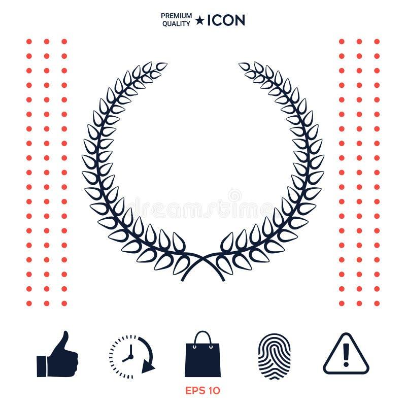 Download Corona Dell'alloro - Simbolo Elegante Per Progettazione Di Yor Illustrazione Vettoriale - Illustrazione di siluetta, sovranità: 117975741