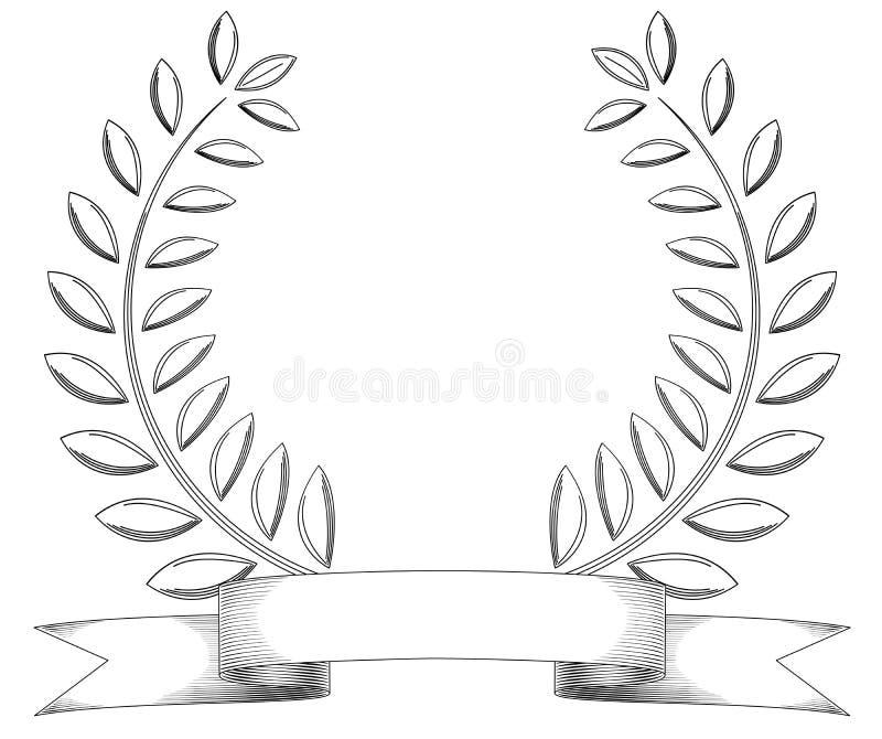 Corona dell'annata illustrazione di stock