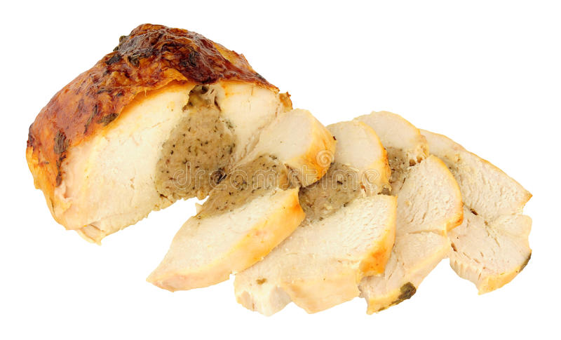 Corona della carne del pollo arrosto con il riempimento immagine stock
