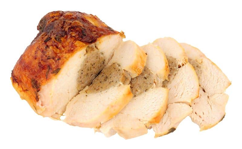 Corona della carne del pollo arrosto con il riempimento fotografia stock