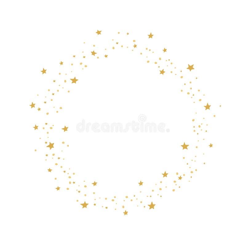 Corona della stella dorata su fondo bianco fotografia stock