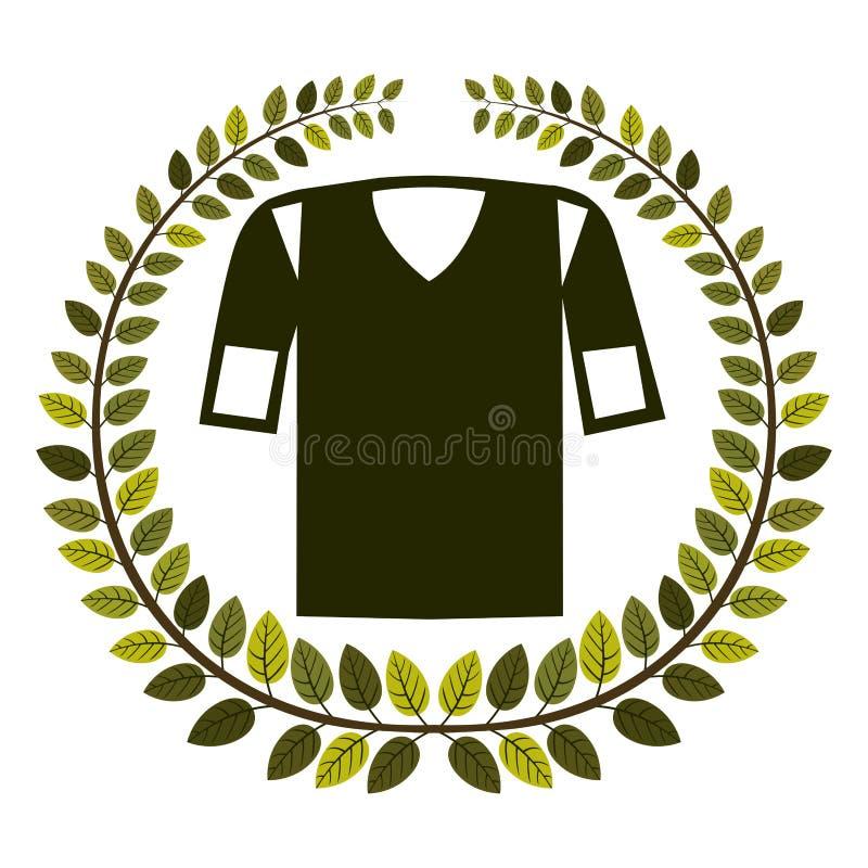 corona delle foglie con l'uniforme di football americano della camicia illustrazione vettoriale