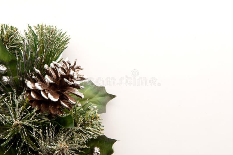 Corona delle pigne di Natale immagini stock