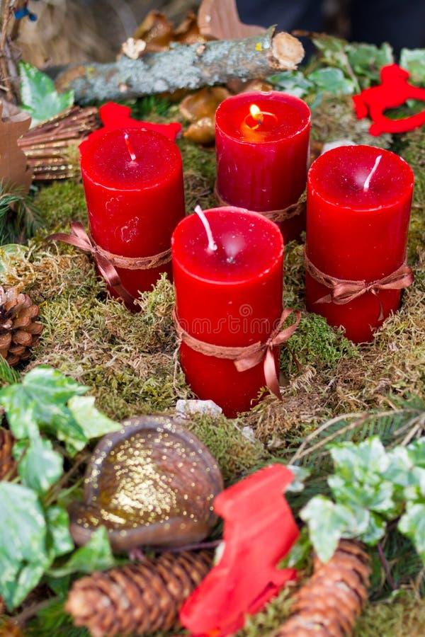 Corona di avvenimento con le candele immagine stock libera da diritti