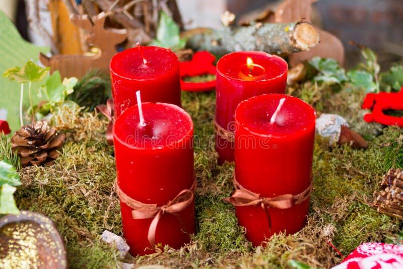 Corona di avvenimento con le candele fotografia stock