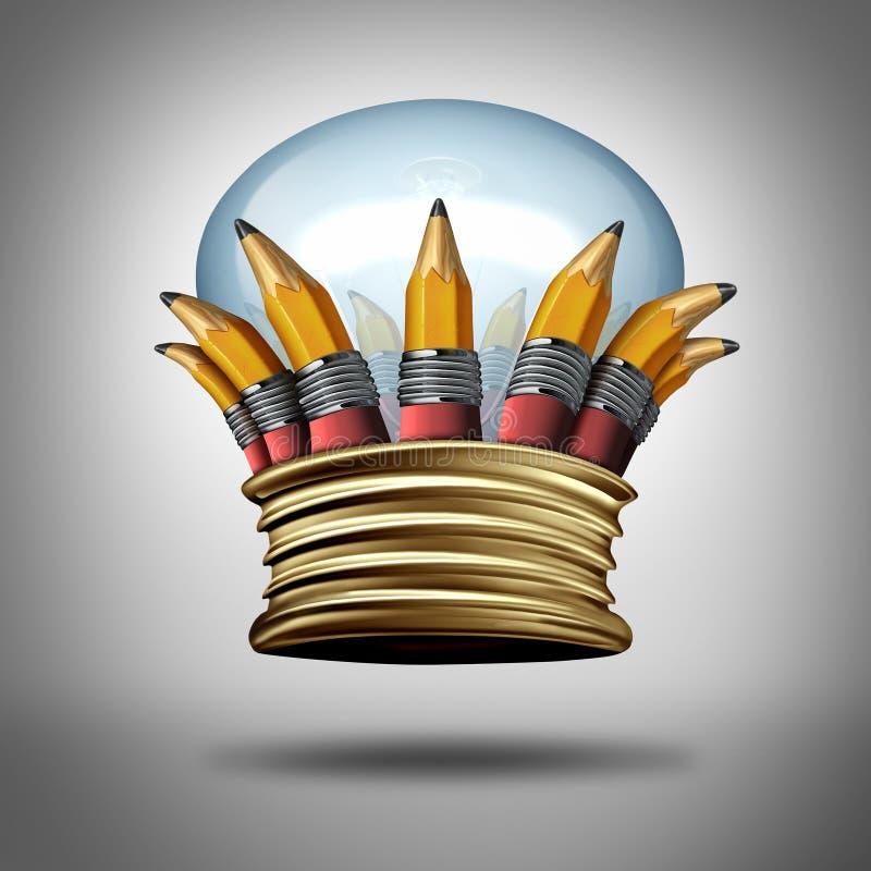 Corona di idee e dell'innovazione royalty illustrazione gratis