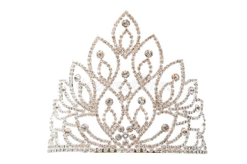 Corona di lusso con i gioielli dei diamanti immagine stock libera da diritti