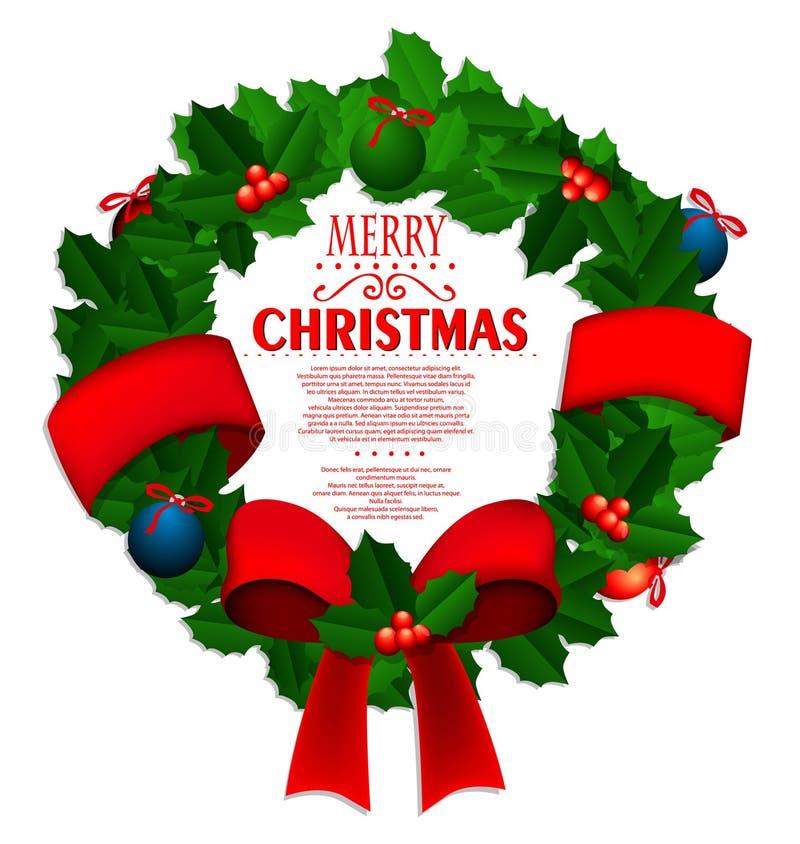 Corona di Natale illustrazione di stock