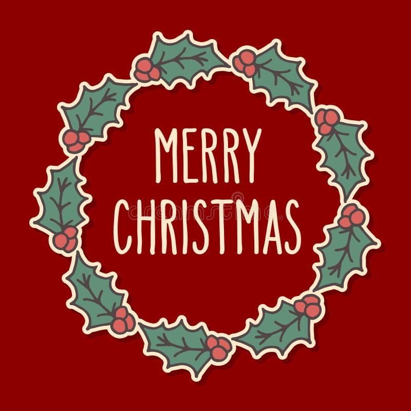 Corona di scarabocchio di Natale royalty illustrazione gratis