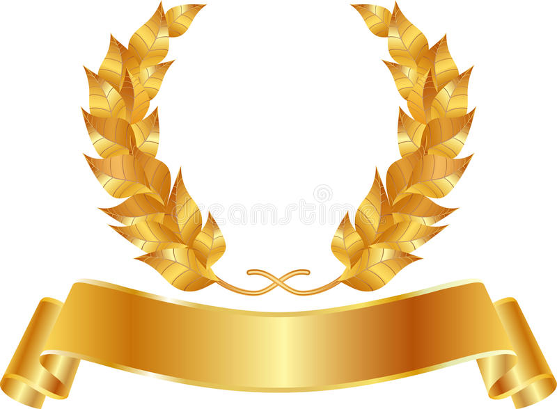 Corona dorata illustrazione di stock