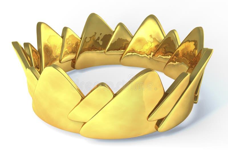 Corona dorata illustrazione vettoriale