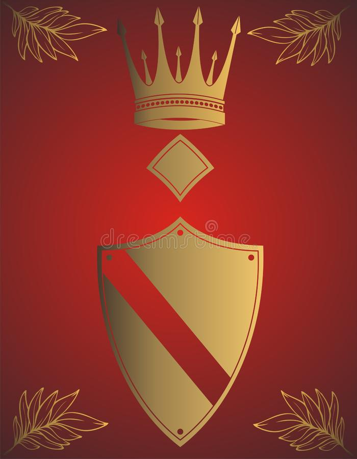 Corona dorata immagine stock libera da diritti
